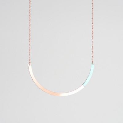 Circle Necklace | Copper & Mint