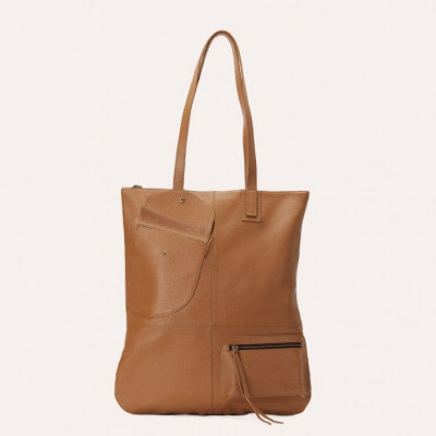Leather Tote Bag Fold n Hold | Olive
