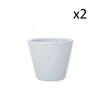 2er Set Mug Mist B 125 ML | Hellgrau