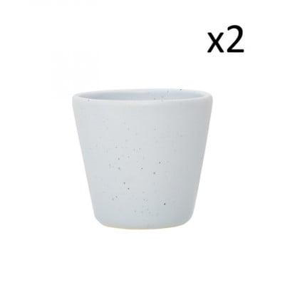 2er Set Mug Mist B 200 ML | Hellgrau