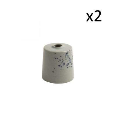 2er Set Vasen Oskar Lea D6 cm l Hellblau