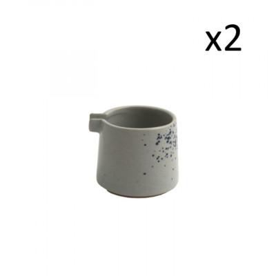 2er Set Milchkännchen Oskar Lea D7 cm l Hellblau