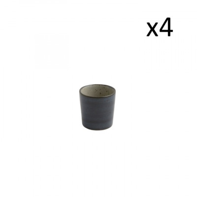 4er-Set kleine Tassen Oskar Lea 100 ml l Dunkelblau
