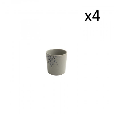 4er-Set kleine Tassen Oskar Lea 100 ml l Hellblau