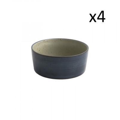 4er-Set Schalen Oscar Lea D15,5 l Dunkelblau