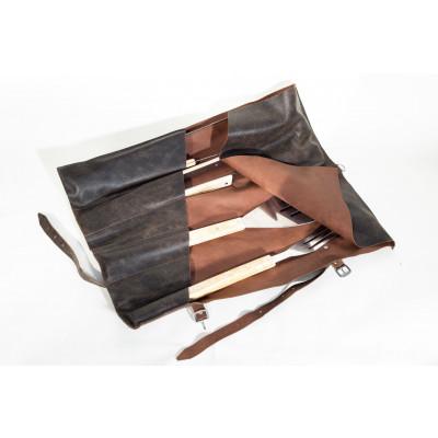 Grilltasche aus Leder mit 6 Fächern