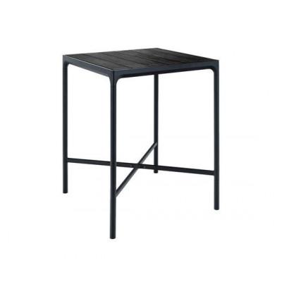 Garten-Bar-Tisch Vier kleine | Schwarz