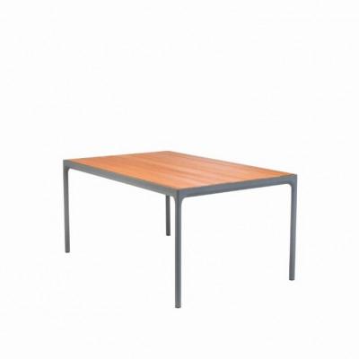 Garten-Tisch Vier | Bambus & Grau