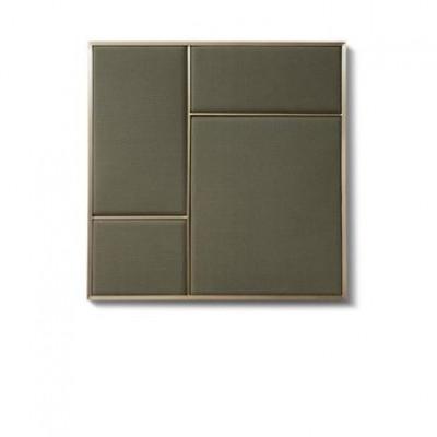 NOUVEAU PIN Oyster Grey & Brass | Medium