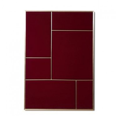 NOUVEAU PIN Rouge Noir & Brass | Large