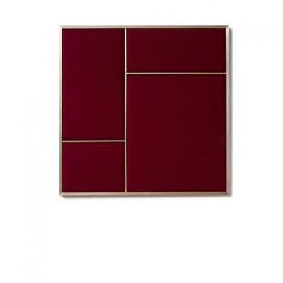 NOUVEAU PIN Rouge Noir & Brass | Medium