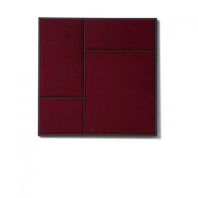 NOUVEAU PIN Rouge Noir & Burgundy Steel | Medium