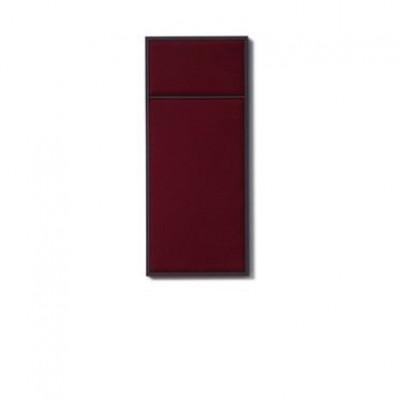 NOUVEAU PIN Rouge Noir & Burgundy Steel | Small