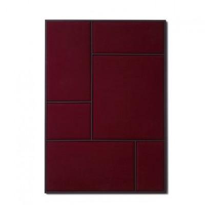 NOUVEAU PIN Rouge Noir & Burgundy Steel | Large