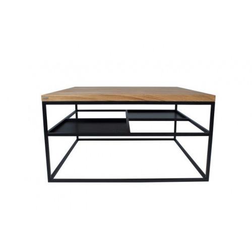 FOURSQUARE Coffee Table | Black Matt & Oak