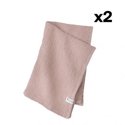 2er-Set Handtuch Waffly | Nude
