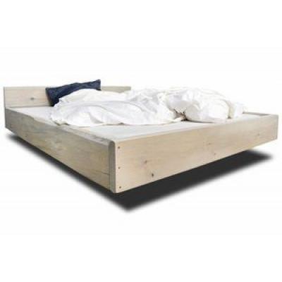 Bett Lussan mit Kopfteil   Weiß
