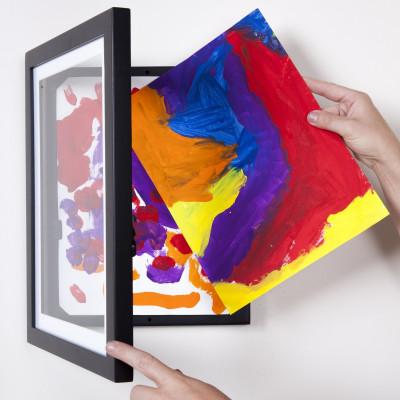 Holzbild aus für 50 Kunstwerke | Schwarz