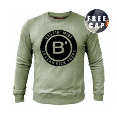 BVLLIN Bustin' Sweater + Free Cap   Khaki / Black