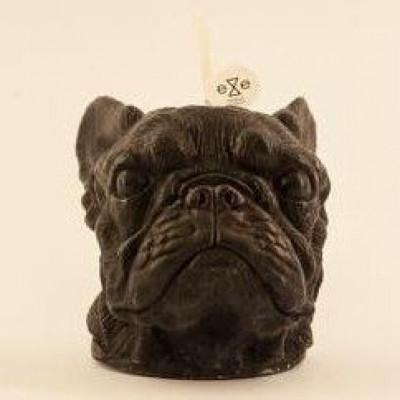 Candle French Bulldog Black | Vanilla & Caramel