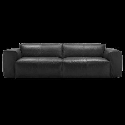 3-Sitzer-Sofa Fresno Nature Leder 0723 | Jade Schwarz