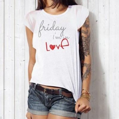T-shirt Friday I'm in Love | White