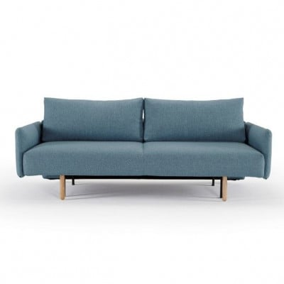 Frode Sofabed with Arms | Mixed Blue