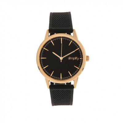 Unisex-Uhr 5200   Schwarz-Rosé-Gold