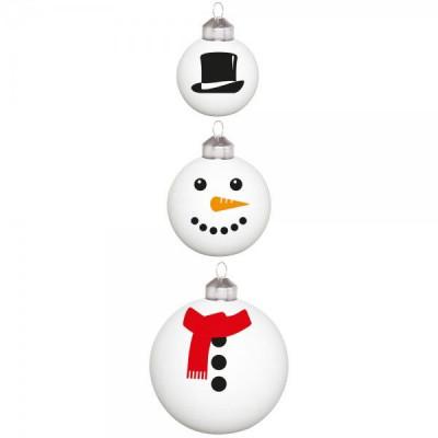 Weihnachtskugeln 3er-Set   Frosty