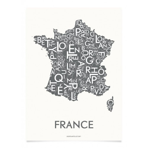 Frankreich Poster | Grau