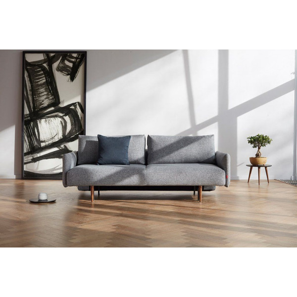 Frode Sofabed with Arms   Twist Granite