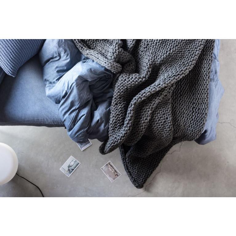 Plaid Knit Handgemacht   Grau Granite