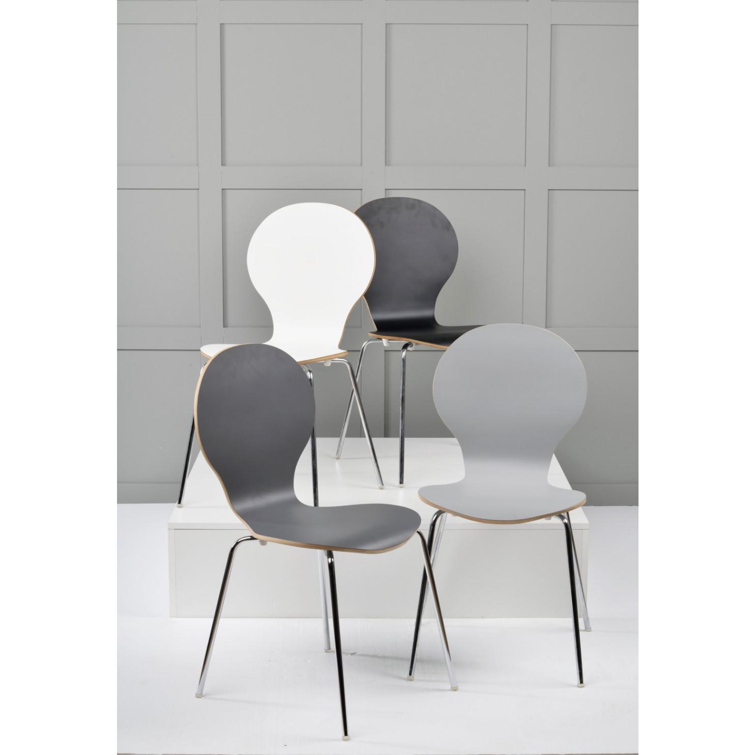 Stuhl Fusion | Schwarz / Chrom