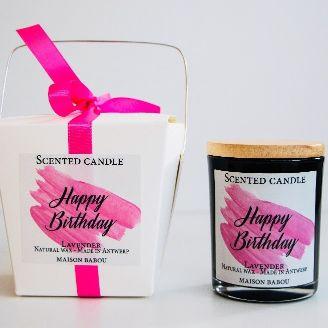 Duftkerze Lavendel | Happy Birthday
