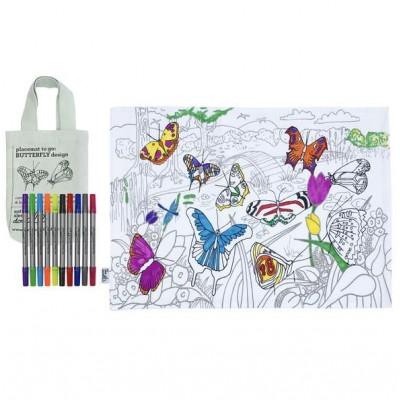 Platzset To Go   Schmetterling