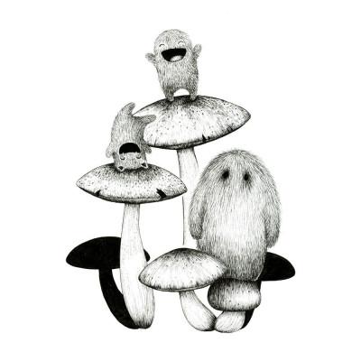 Spaß mit Pilzen Drucken