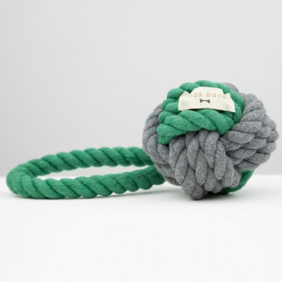 Hoby Rope Toy | Green & Grey