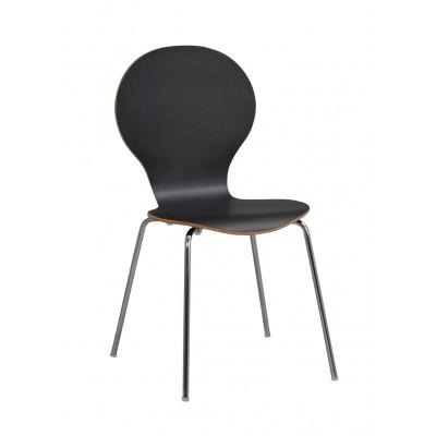 Stuhl Fusion   Schwarz / Chrom