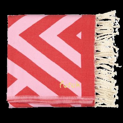 Beach Towel Benagil | Pink & Red
