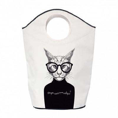 Storage Bag Critique Cat   White