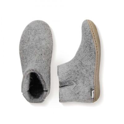 Das Stiefelleder | Grau