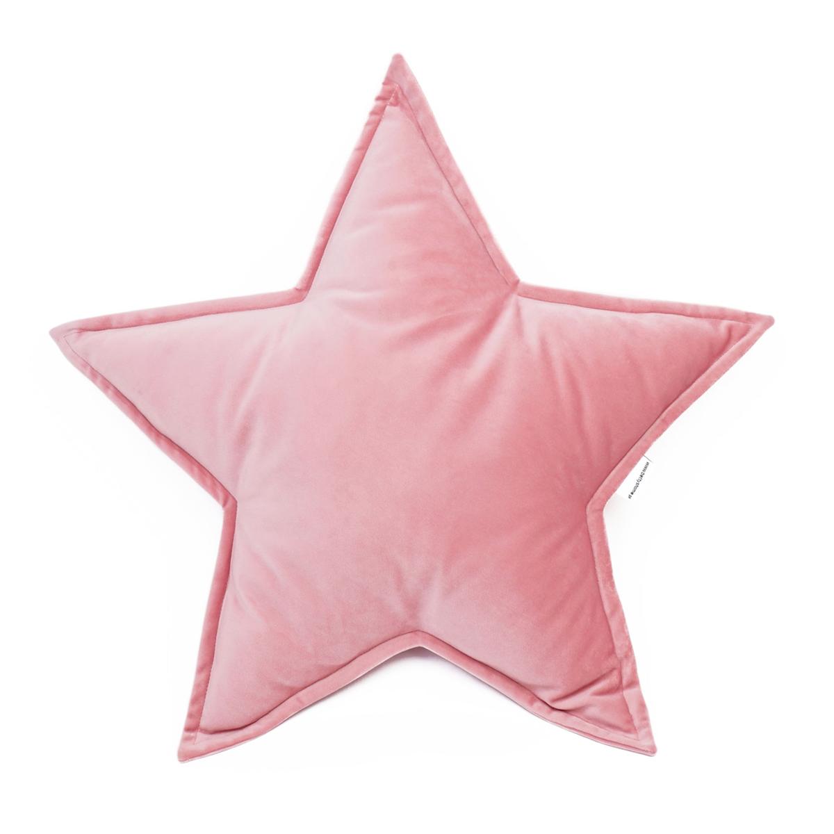Cushion Big Star Velvet | Pink