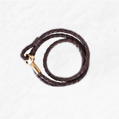 Key Leather Bracelet | Dark Brown