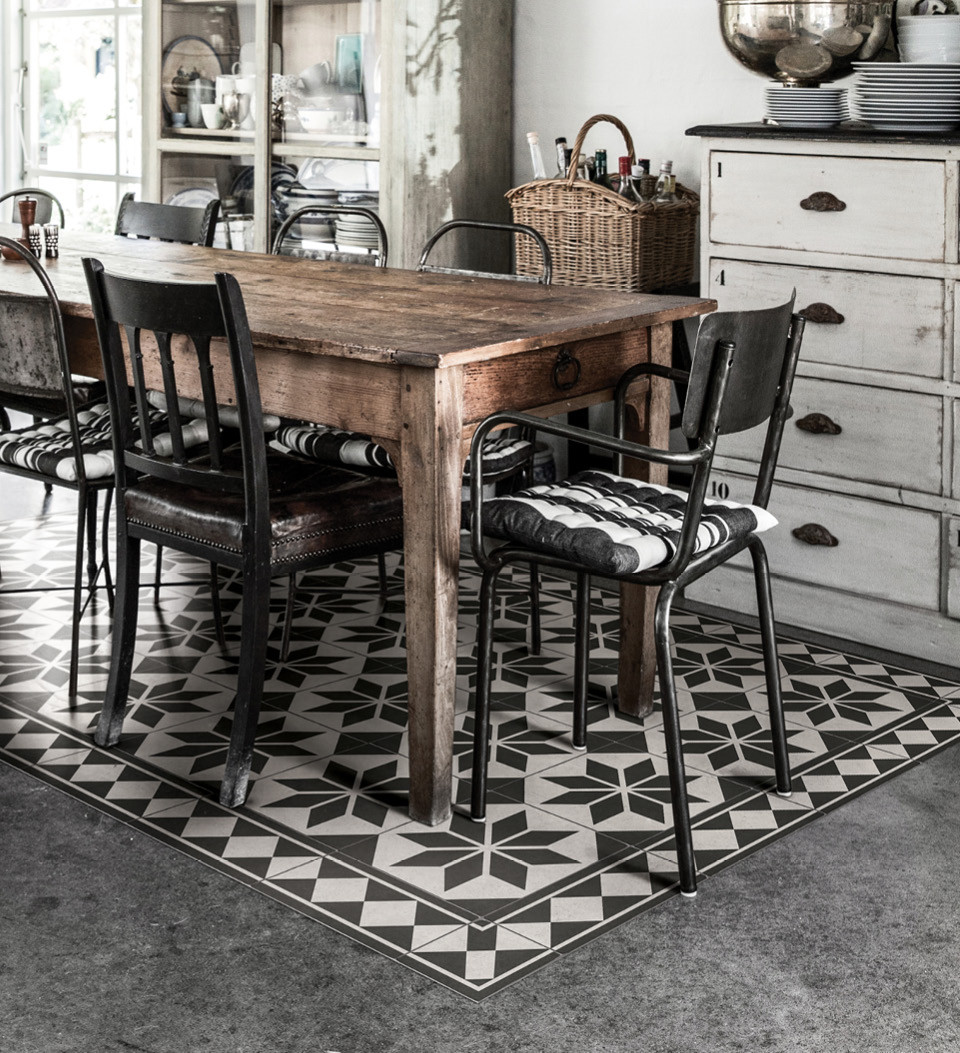 Beija Flor Vinyl Floor Mat Gothic, Vinyl Rug For Dining Room