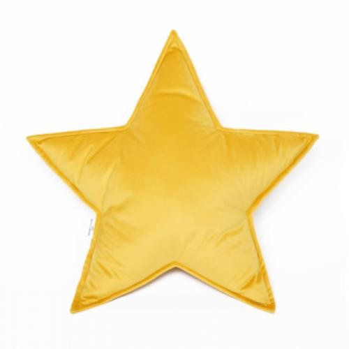 Cushion Big Star Velvet | Yellow