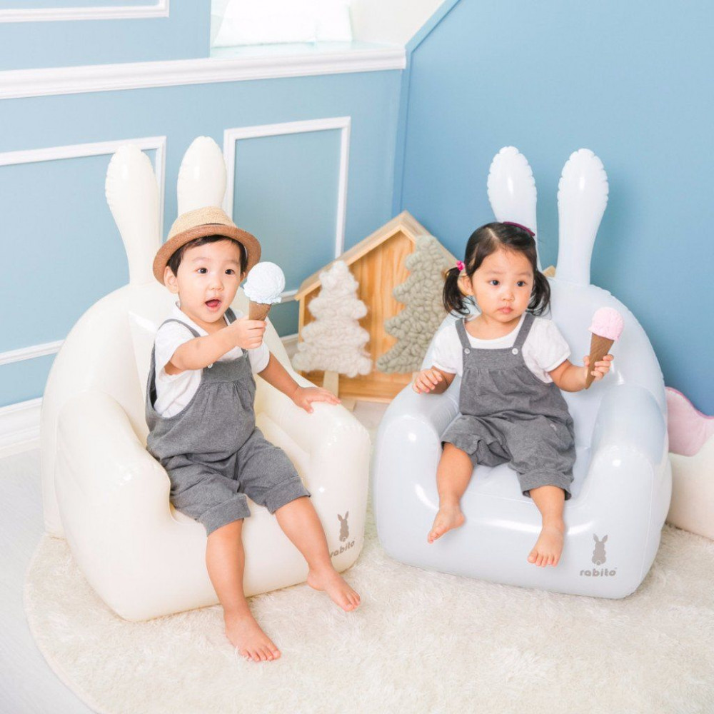 Small Inflatable Chair   Cream White