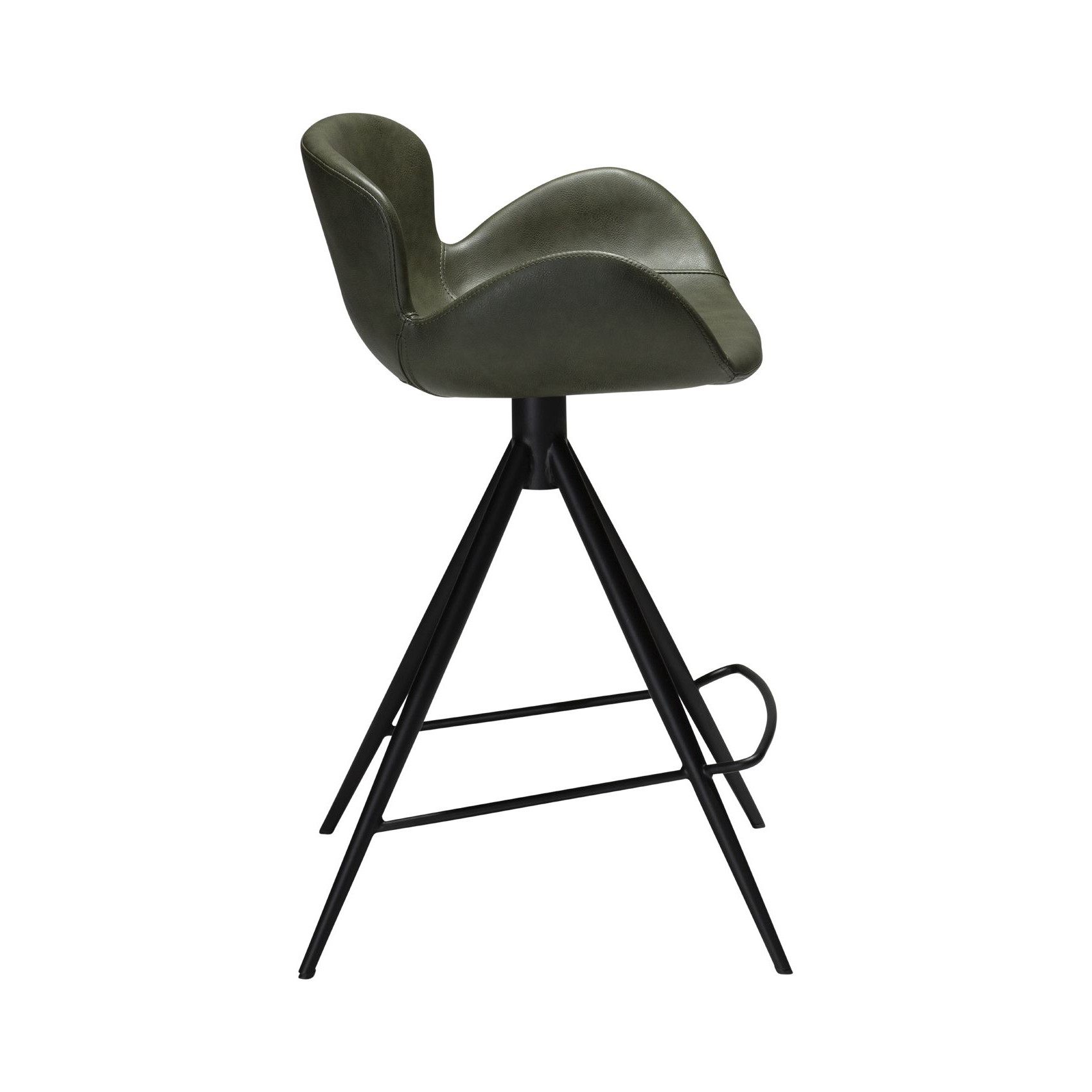 Counter Stool Gaia Vintage Artificial Leather | Green