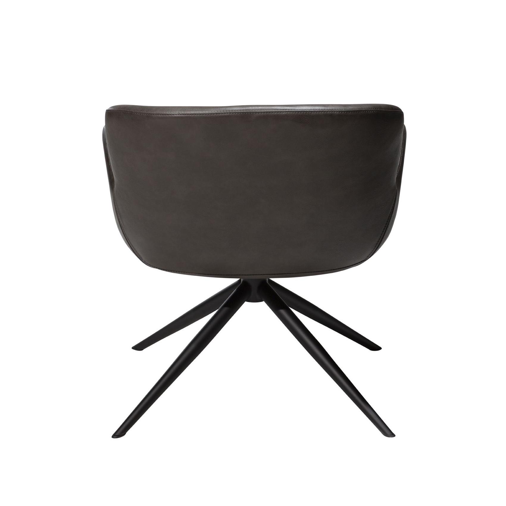 Lounge Chair Gaia | Art. Leder / Vintage Grau