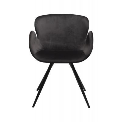 Stuhl Gaia Velvet | Schwarz