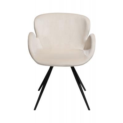 Chair Gaia Velvet | Pearl